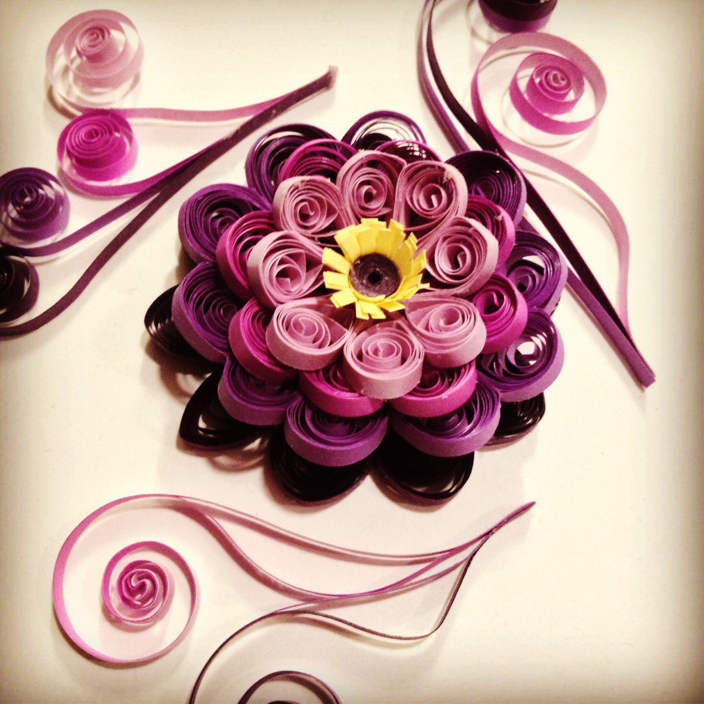 My newest quilling project quilling 2 pinterest for Paper quilling art projects