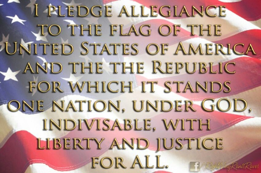 flag salute words
