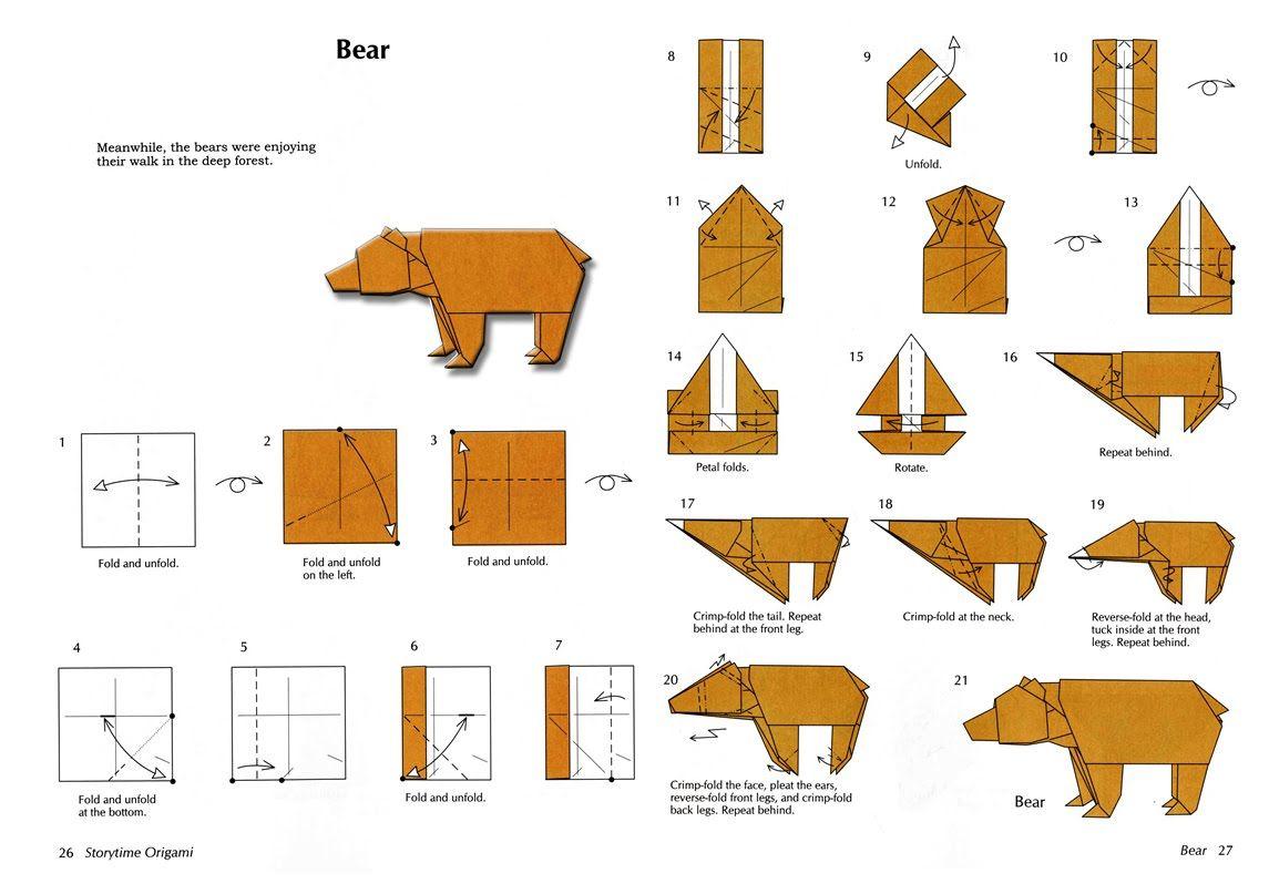 Медвежонок из оригами