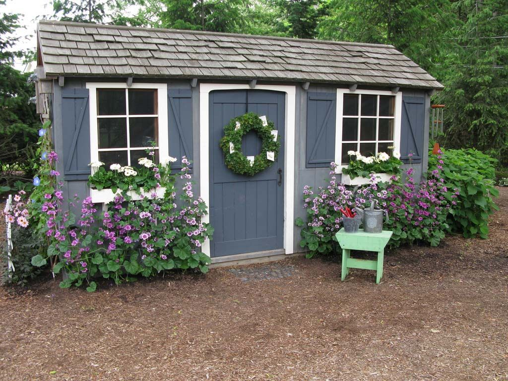 Garden shed colors garden sheds and greenhouses pinterest for Garden shed pictures