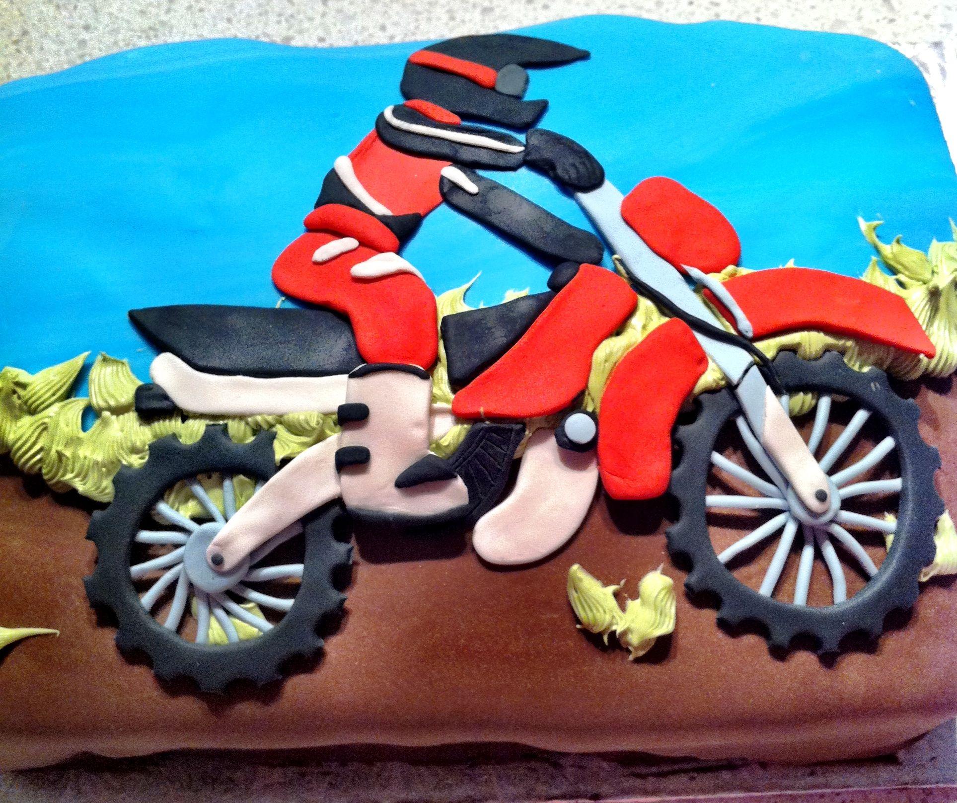 dirt bike cake - photo #45