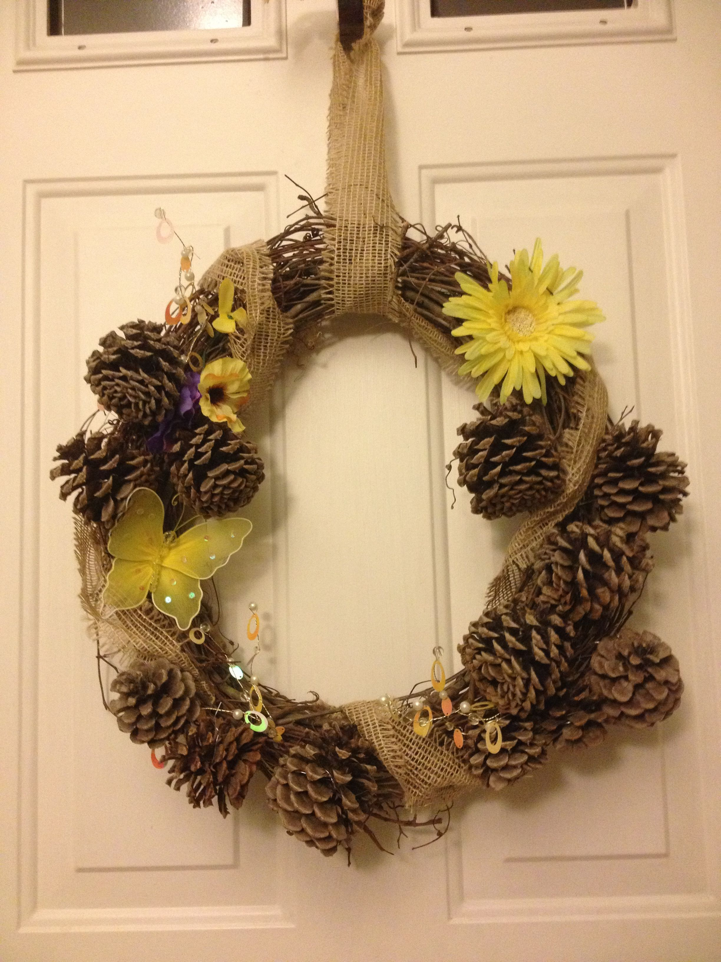 Diy summer country wreath wreaths pinterest for Diy summer wreath