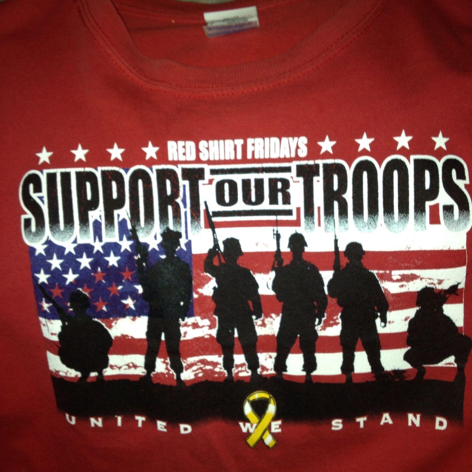 Red shirt friday support our troops ooooooooo pinterest for Red support our troops shirts