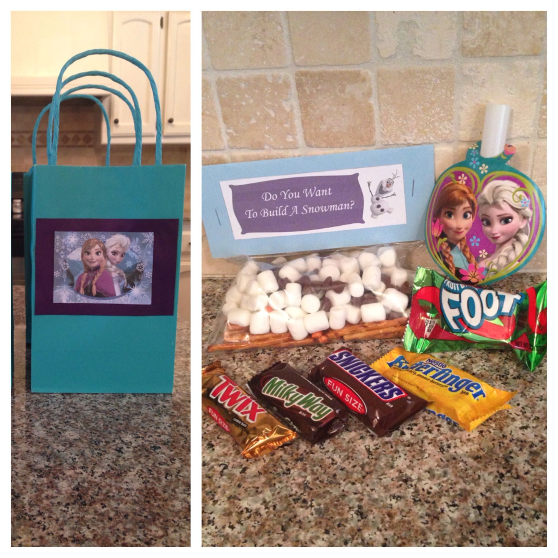 frozen goody bags birthday ideas