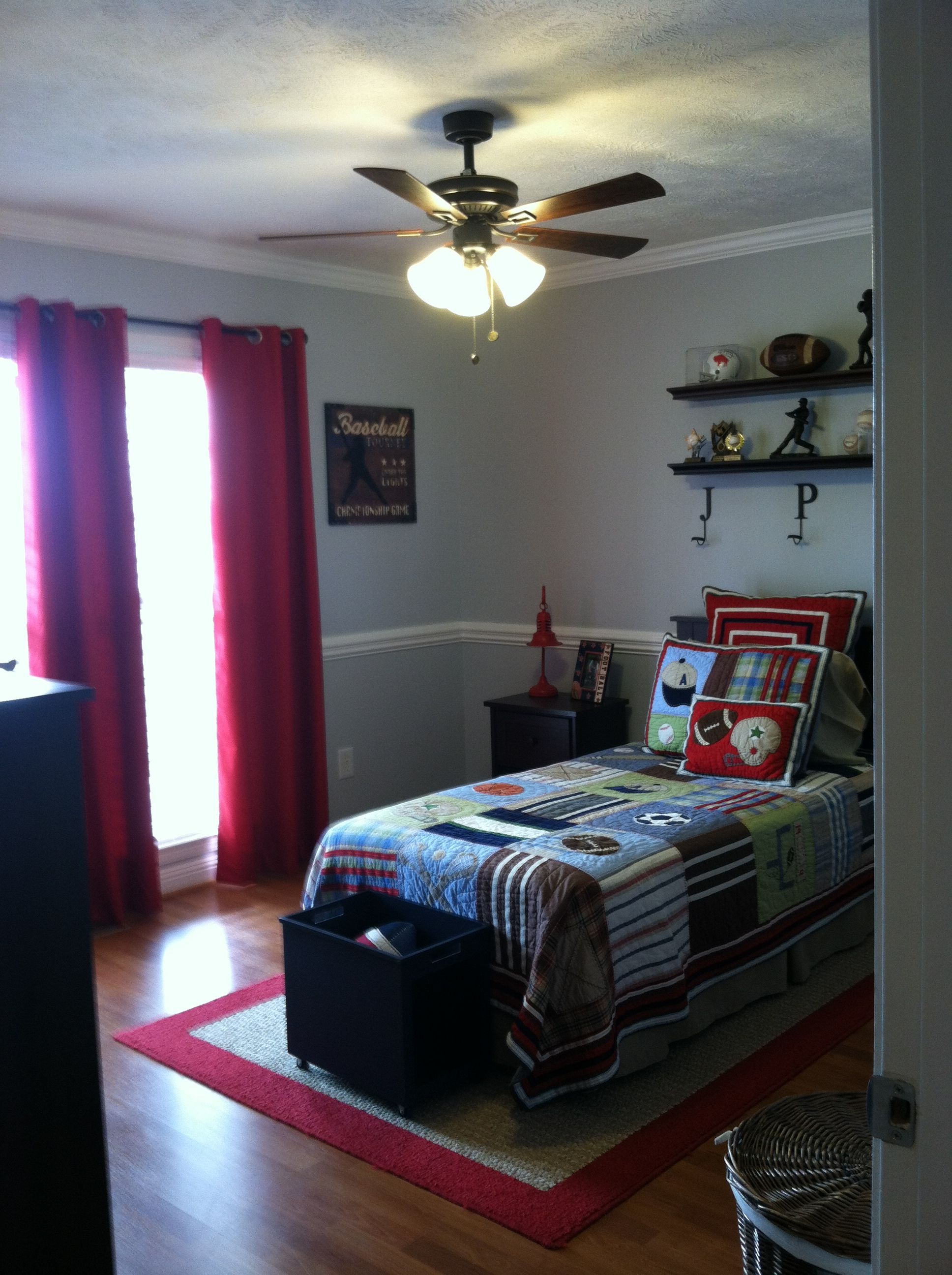 sports themed bedroom damyn 39 s room pinterest