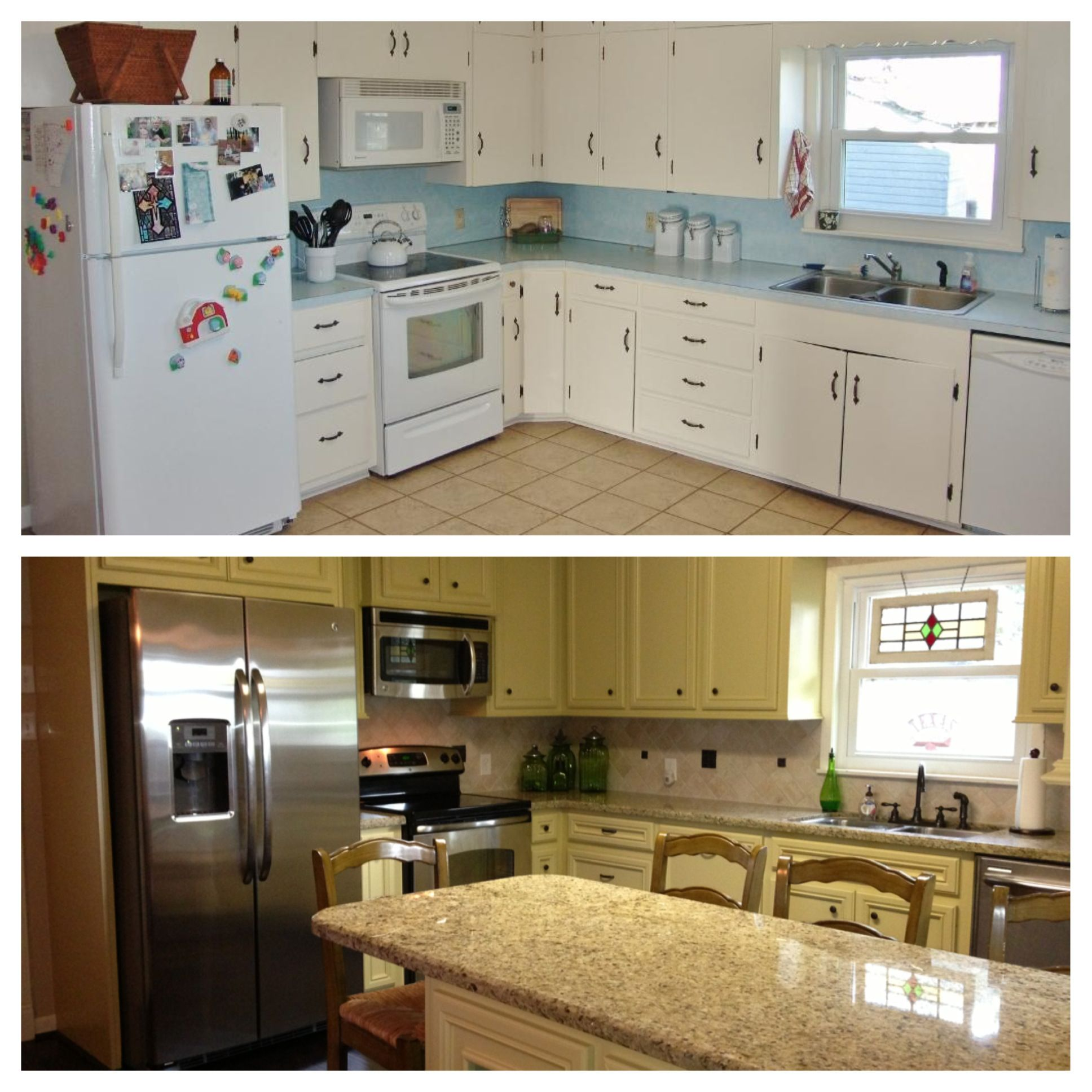 Before and after kitchen remodel kitchen redo pinterest Redo my kitchen