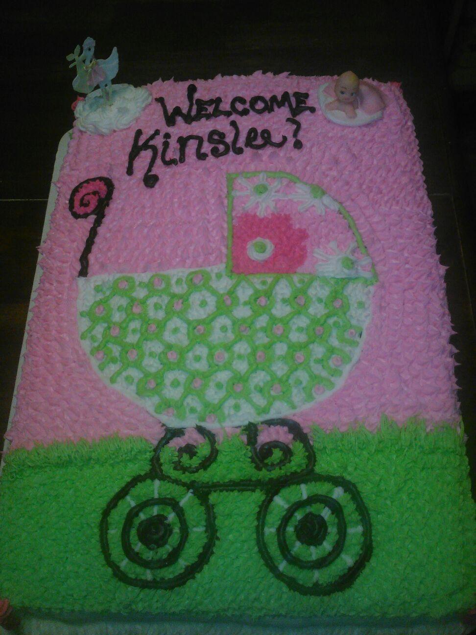 baby shower girl carriage sheet cake babyshower pinterest