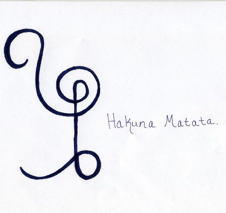Hakuna Matata Symbol | Vic | Pinterest