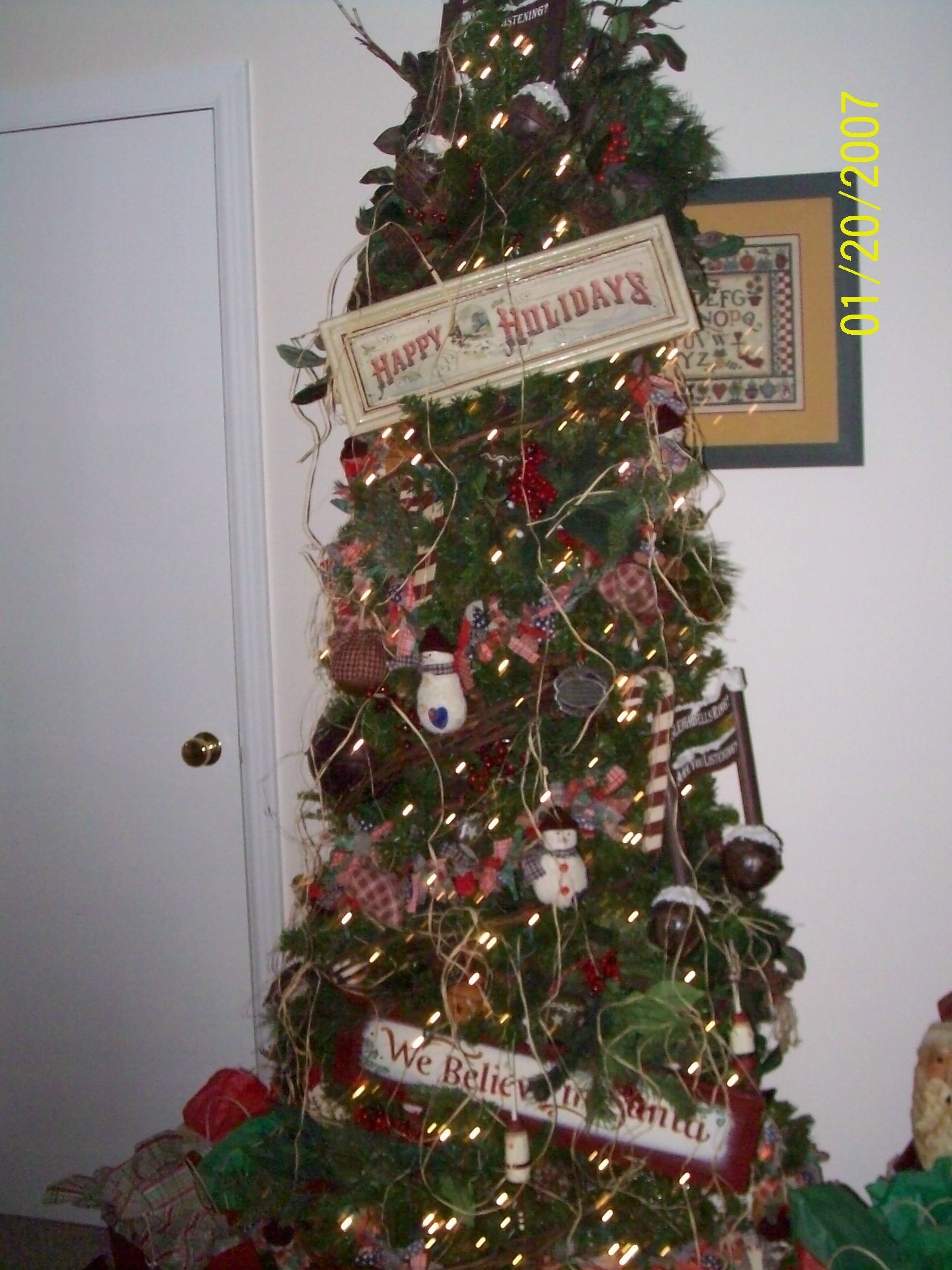 Rustic Christmas Tree Holidays Pinterest