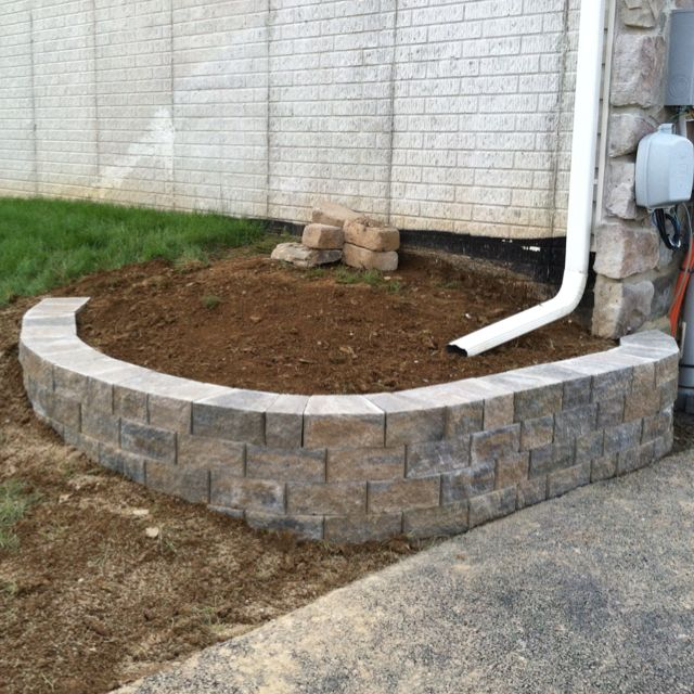 Small retaining wall installation for the home pinterest for Small garden wall designs