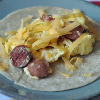 Hot Dog & Scrambled Egg Burrito | Food | Pinterest
