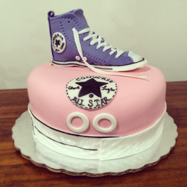 converse tennis shoe fondant cake tiny cakes cakes and