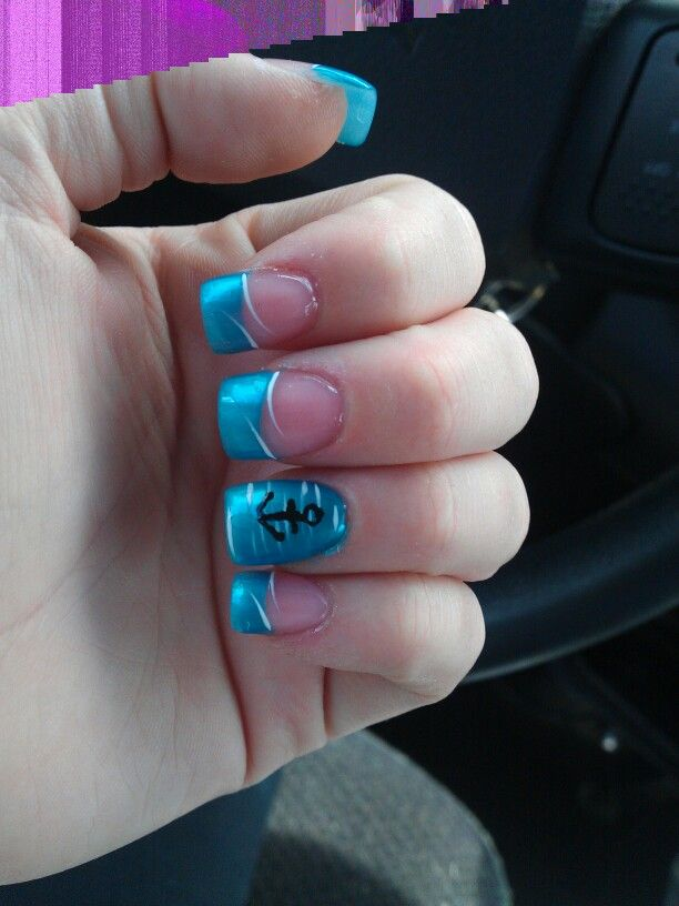baby shower nails to match my sea theme nails pinterest