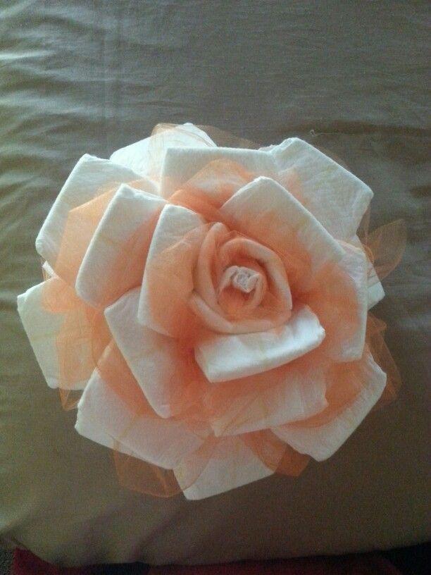 Diaper rose crafty ideas pinterest