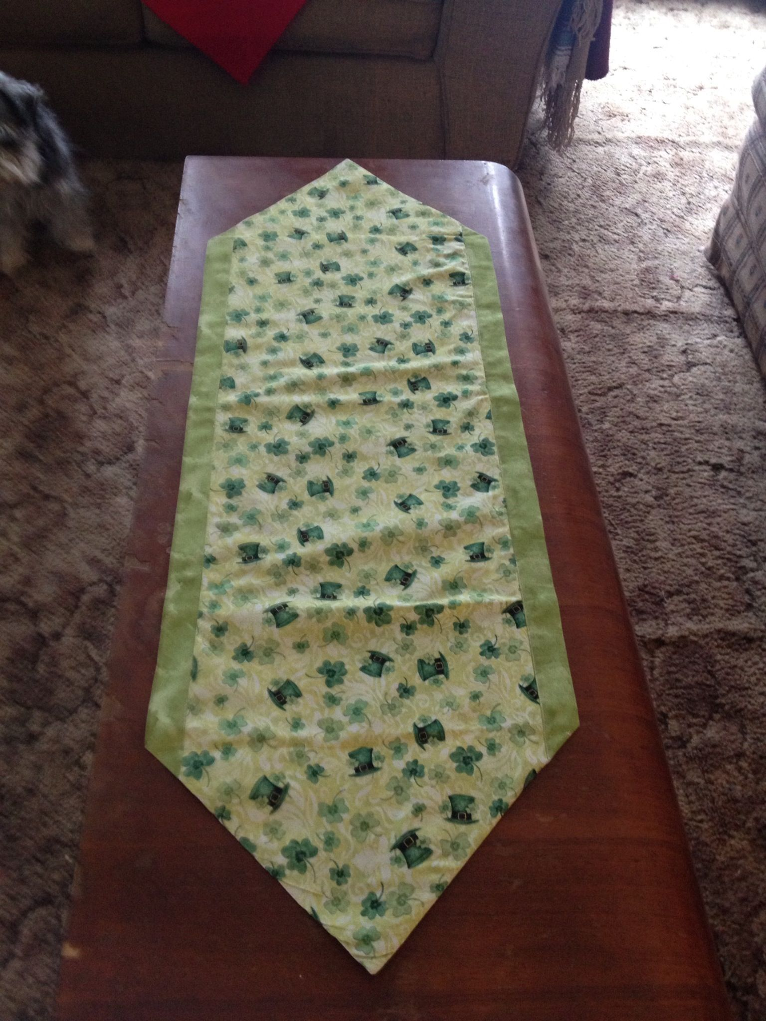 St patricks day 10 minute table runner sewing n stuffs for 10 min table runner