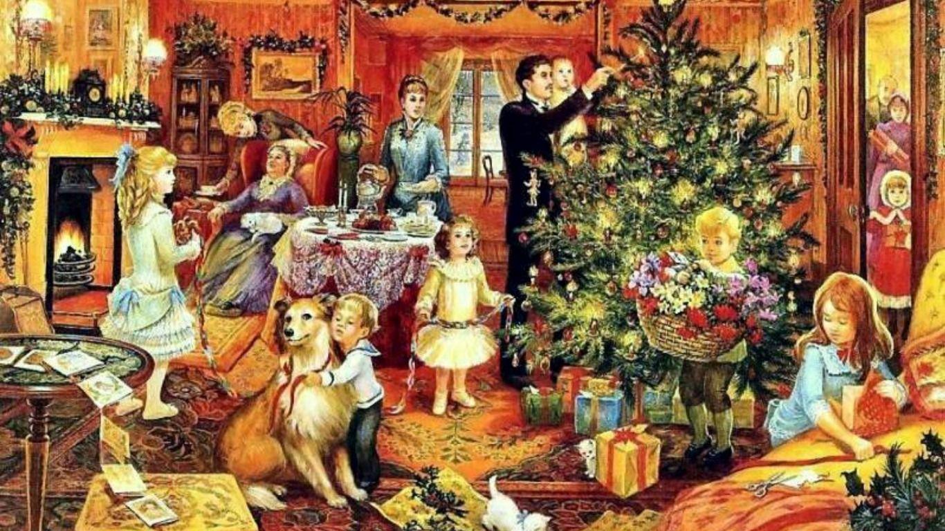 victorian christmas scenes - photo #30