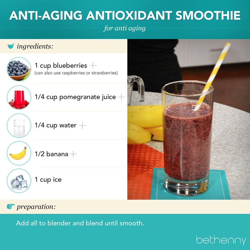 Antioxidant Smoothie Recipe | Healthy Fruit and Veggies recipes | Pin ...