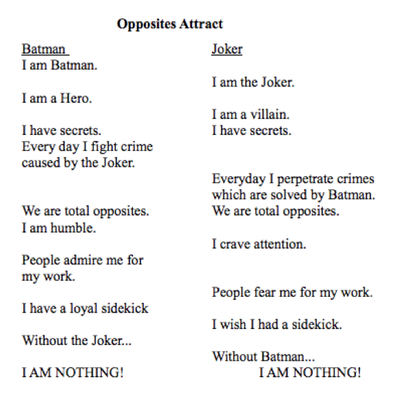 comparasons to two poems This handout will help you determine if an assignment is asking for comparing and contrasting  you to compare or contrast two or compare a poem you've.