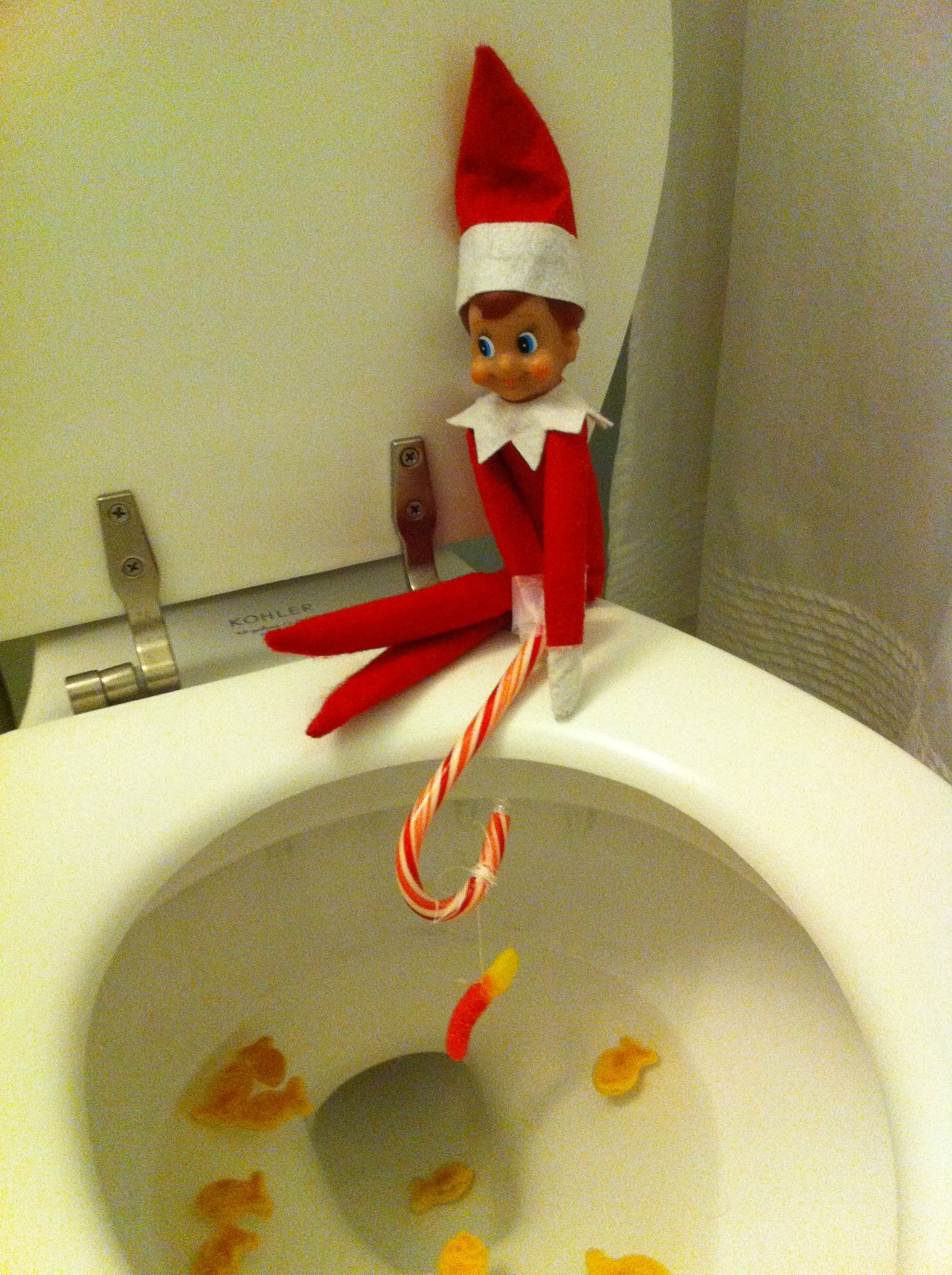 elf on the shelf fishing elf adventures pinterest