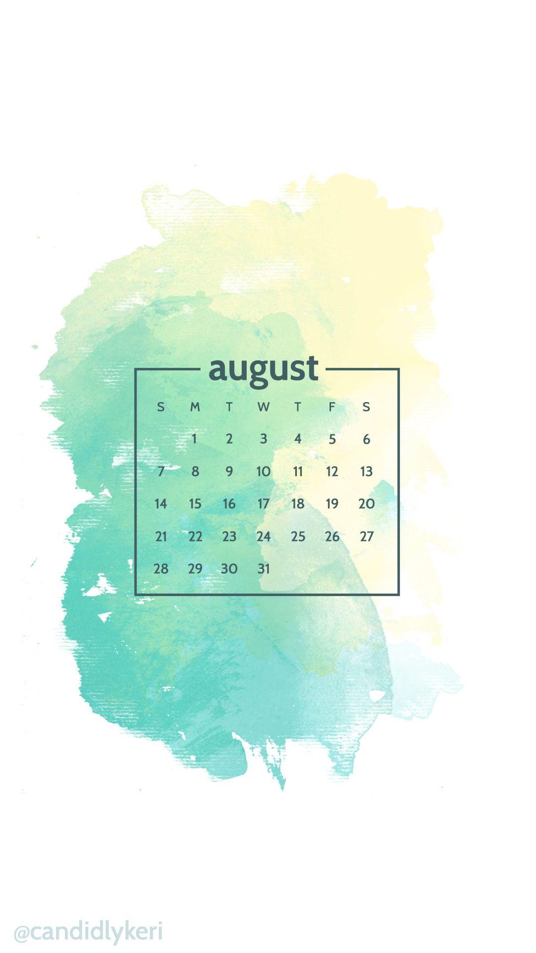 August 2017 Calendar Iphone Wallpaper – Printable Editable Blank ...