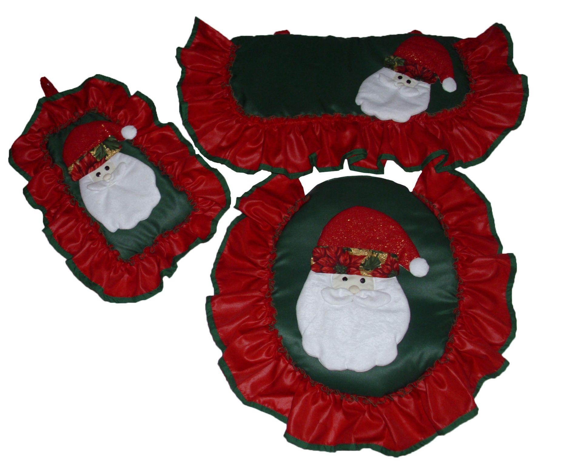 Juegos De Baño Santa Claus:Juego de baño de santa claus de 3 piezas