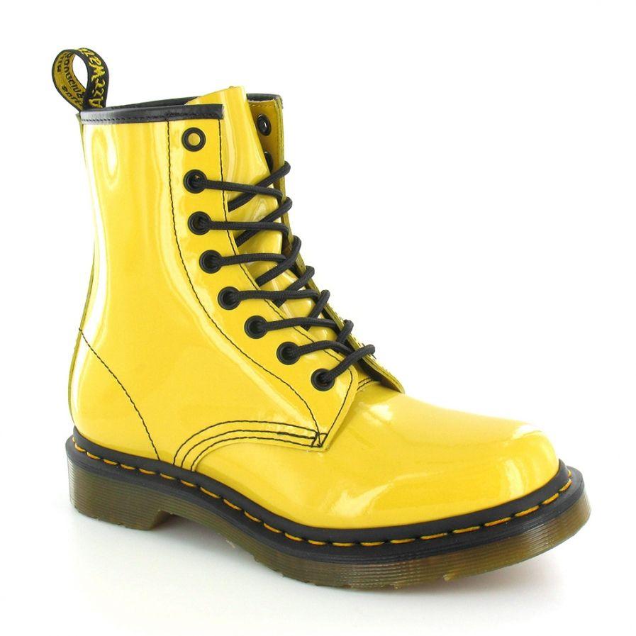 shiny yellow doc martens doc martens fashion pinterest. Black Bedroom Furniture Sets. Home Design Ideas