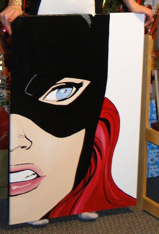 tableau pop art batgirl barbo pop art pinterest. Black Bedroom Furniture Sets. Home Design Ideas
