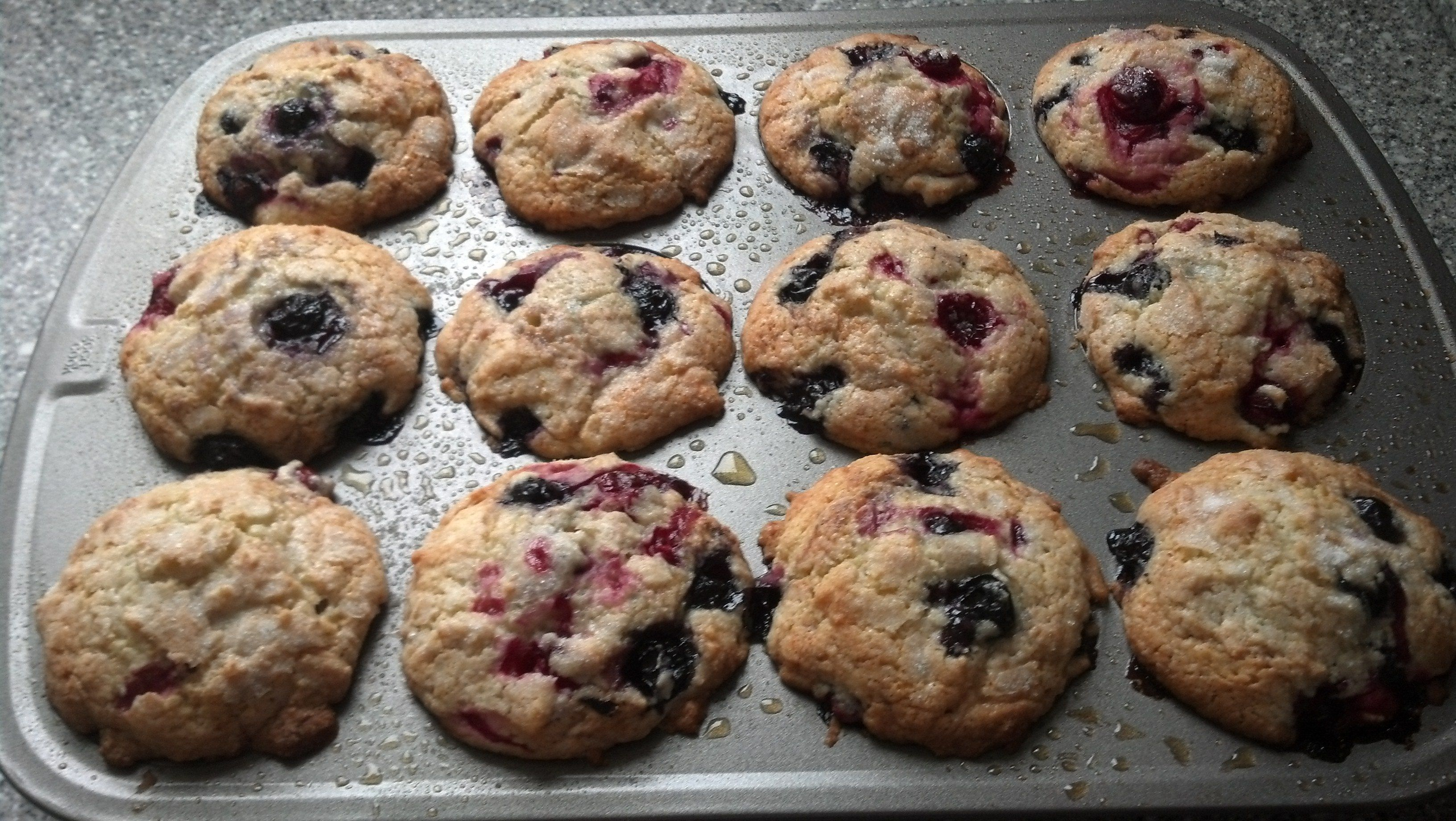 Blueberry-Cranberry Muffins! | Delicious Cranberry Recipes | Pinterest