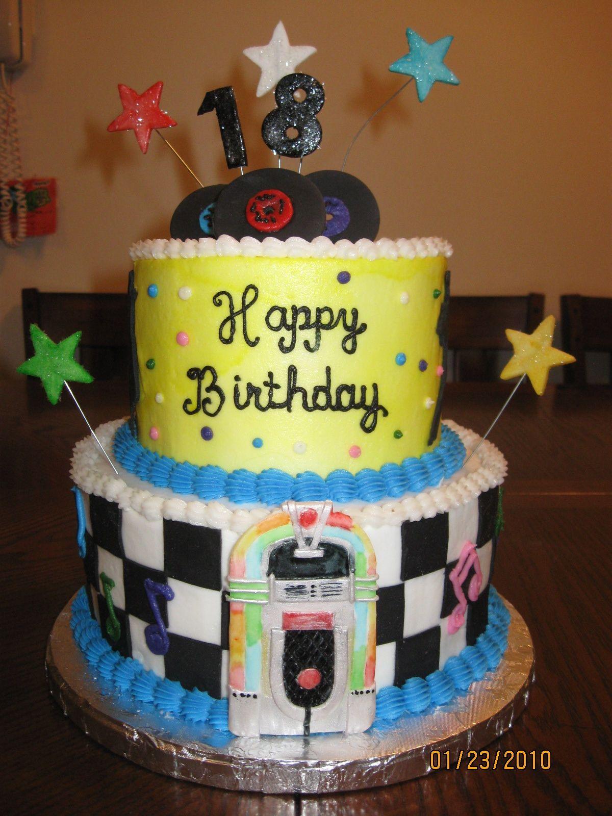 An 18th Birthday Cake  18th birthday party  Pinterest