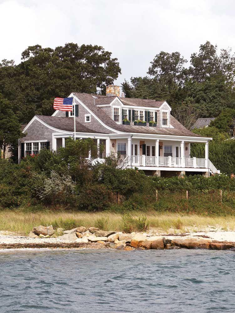 Nantucket Dormer With Full Porch Exterior Home Pinterest