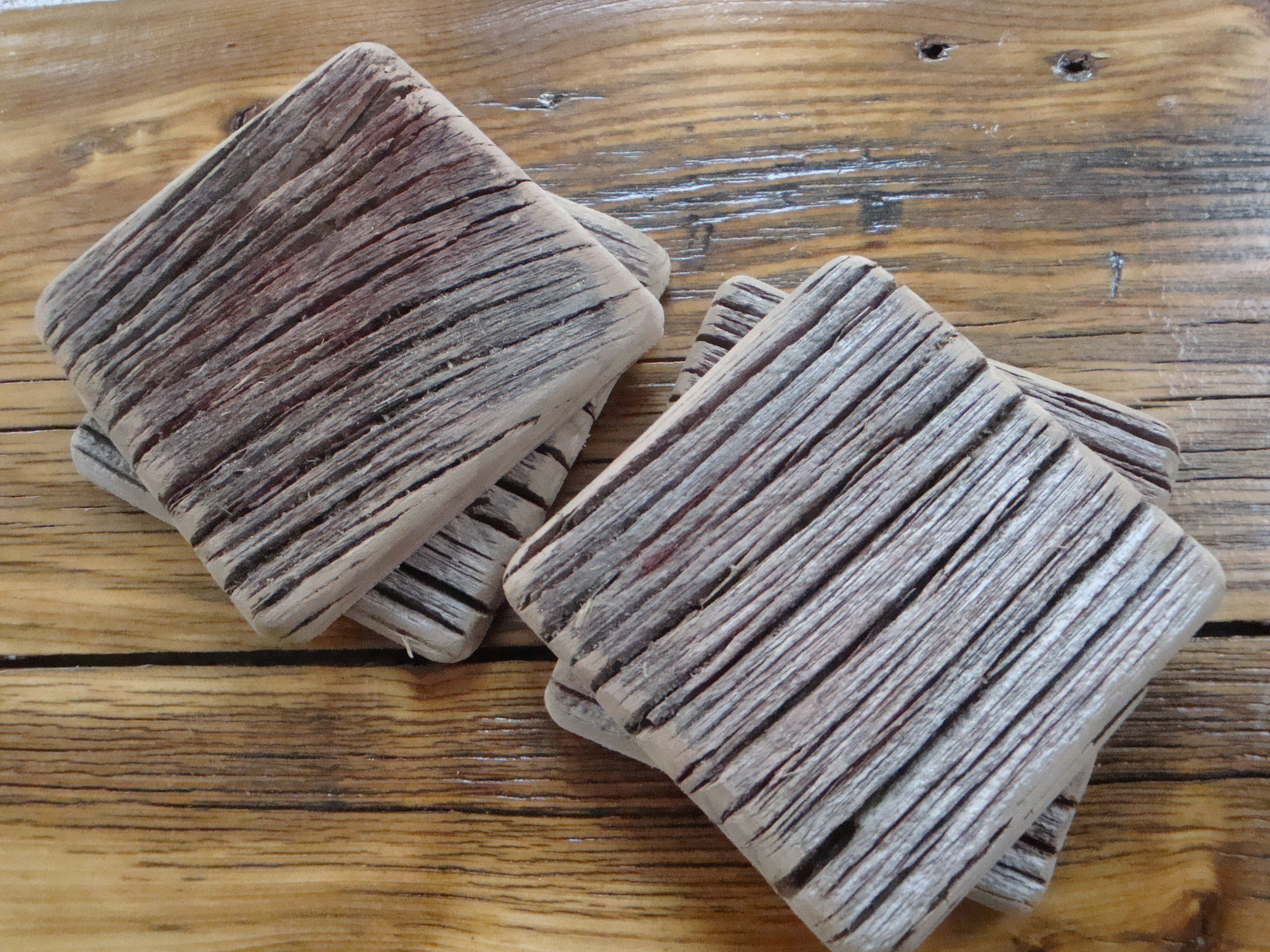 Hundred year old barn wood coasters barn wood craft for Making craft projects from old barn wood