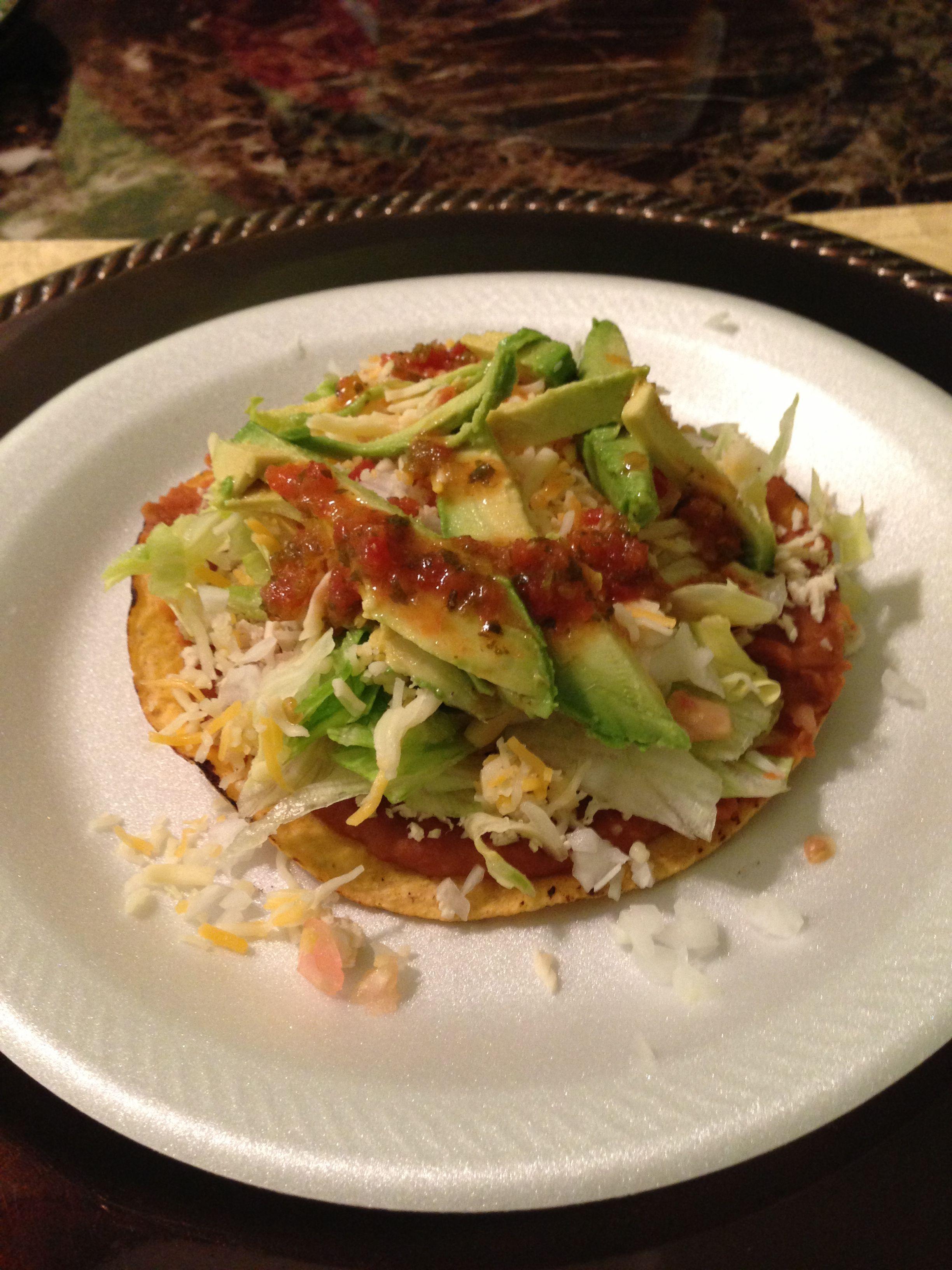 Mexican tostada. | Food,Dessert & More | Pinterest