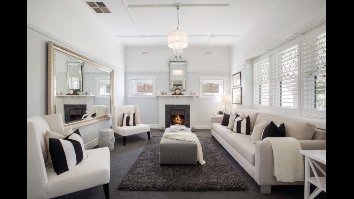 Dark carpet white walls mirror Ideas for the House
