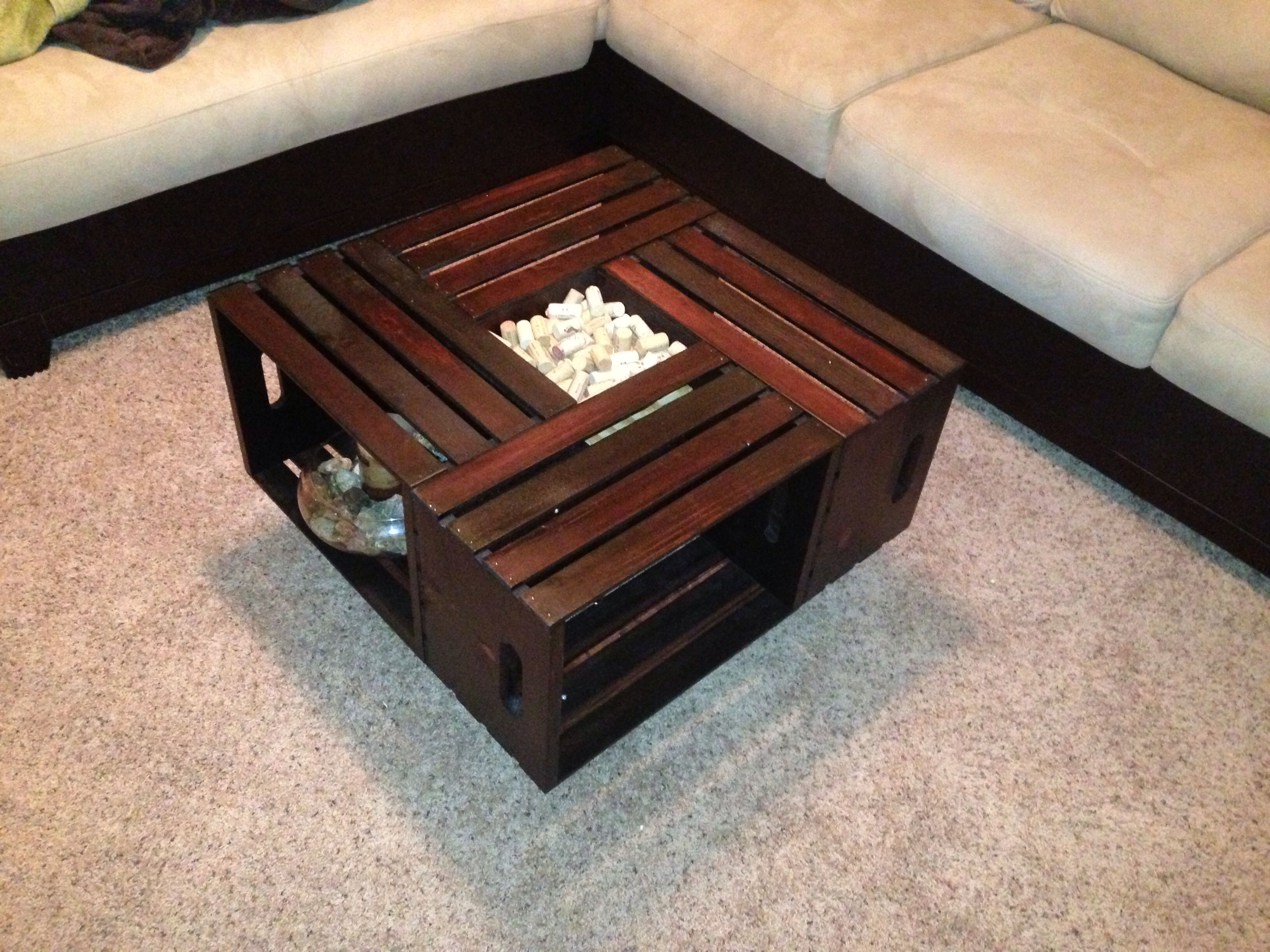 Wine Crate Coffee Table Crafting Genius Pinterest