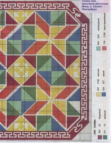 Схемы для вышивки коврика крестом 143