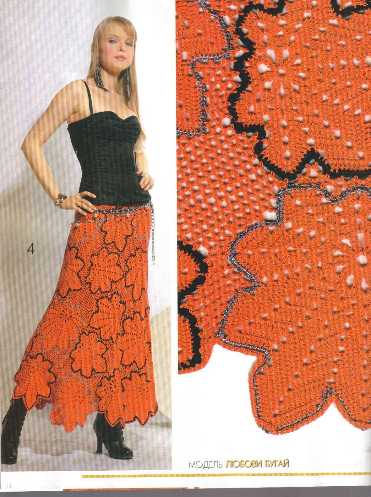 Вязание крючком юбки фото 4