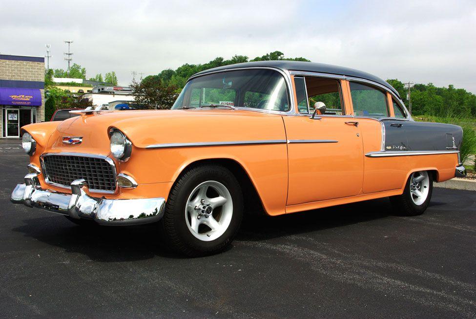 55 chevy 4 door k l cars pinterest for 1955 chevy bel air four door