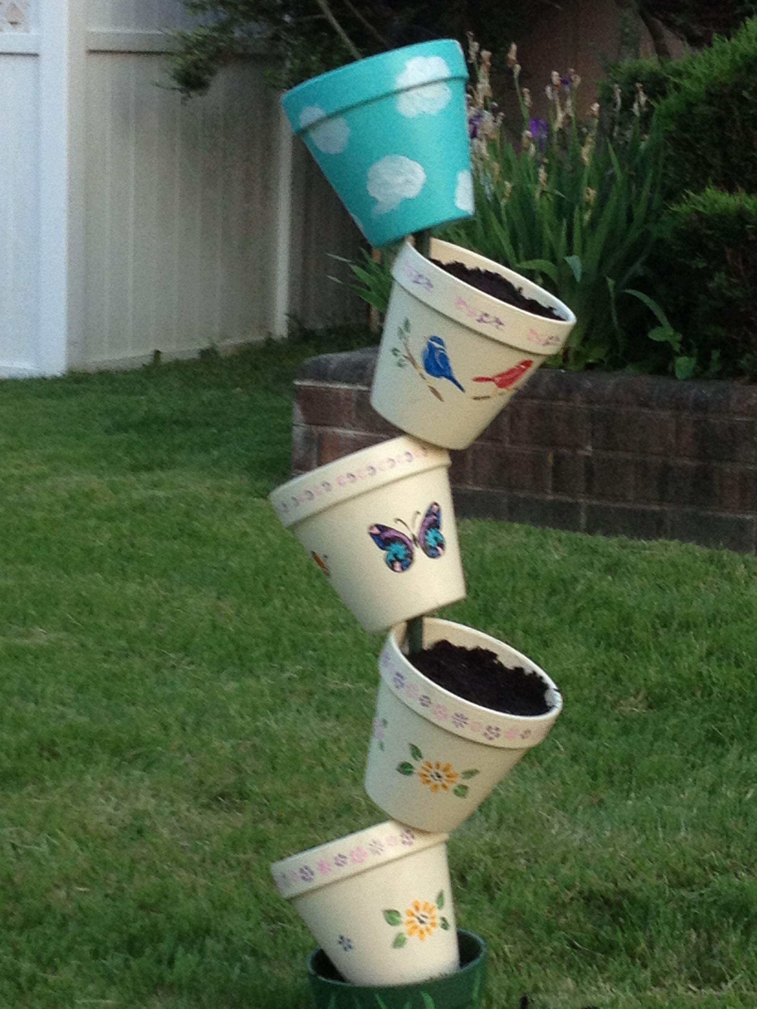 Floating flower pots clay pots pinterest for Floating plant pots