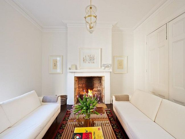 narrow living room long couches living room pinterest