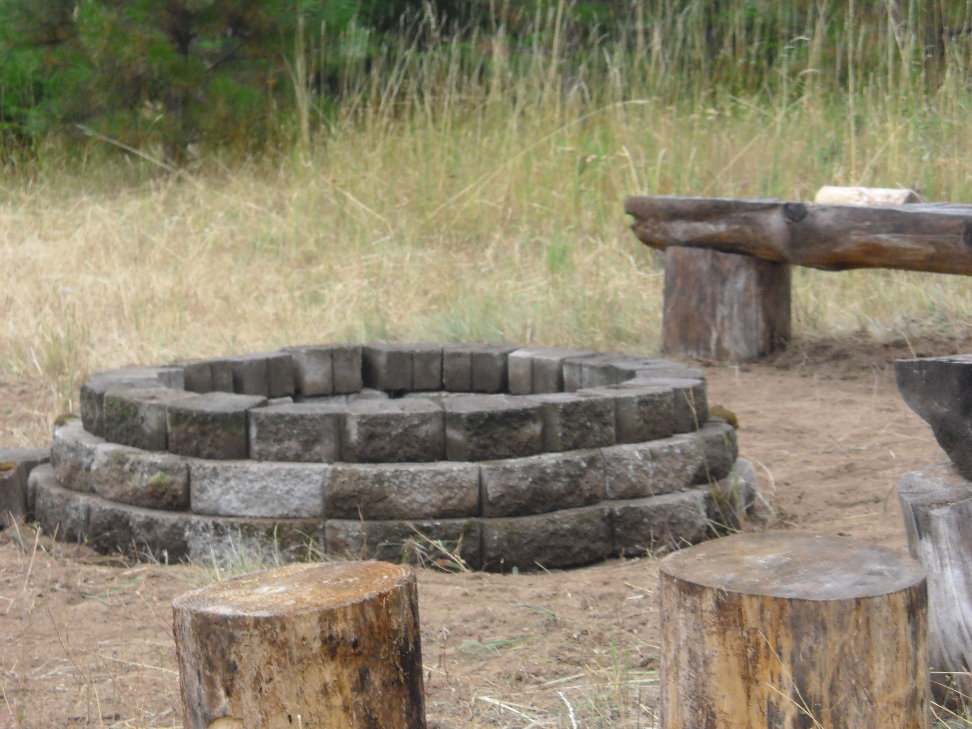 fire pit driftwood seats backyard inspiration pinterest