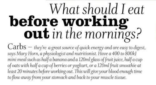 Pre workout breakfast meal advice needed 2014