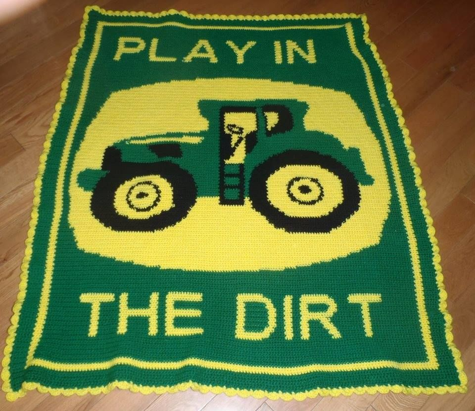 Crochet Pattern For John Deere Afghan : Pin by Connie Owen-Holloway on crochet blankets Pinterest
