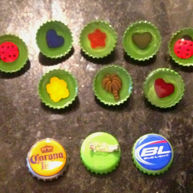 Beer bottle cap pins an upcycled craft crafty pinterest for Crafts to do with beer bottle caps