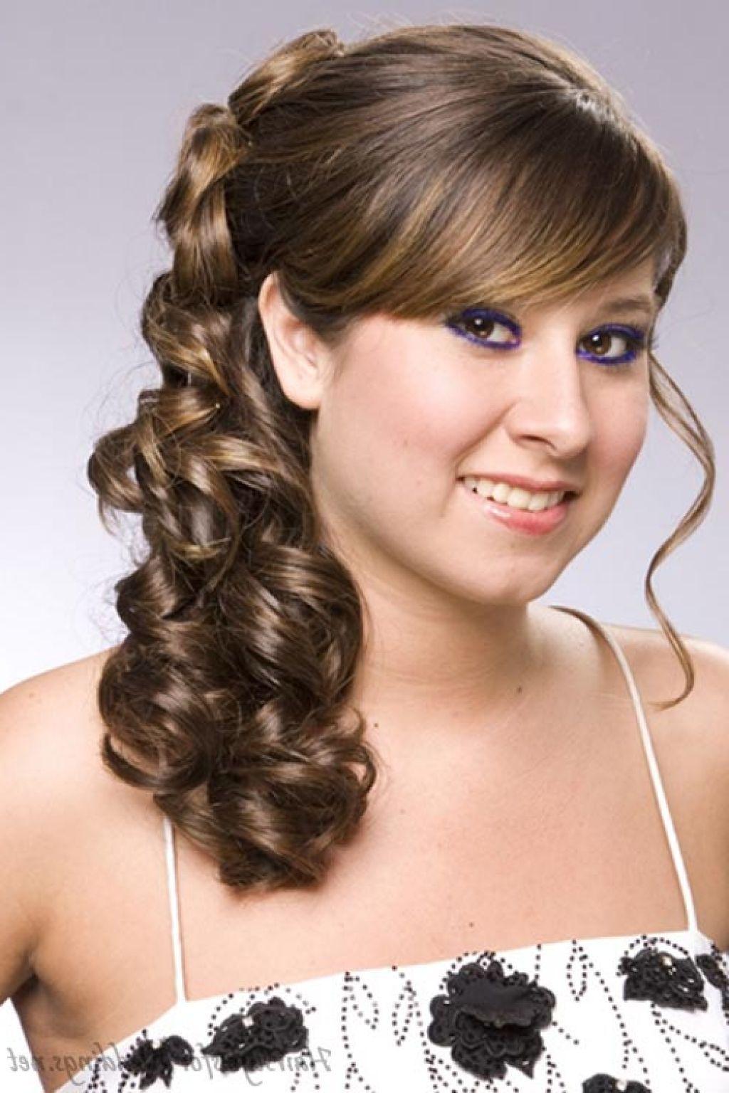 Причёски с локонами на средние волосы с чёлкой фото на