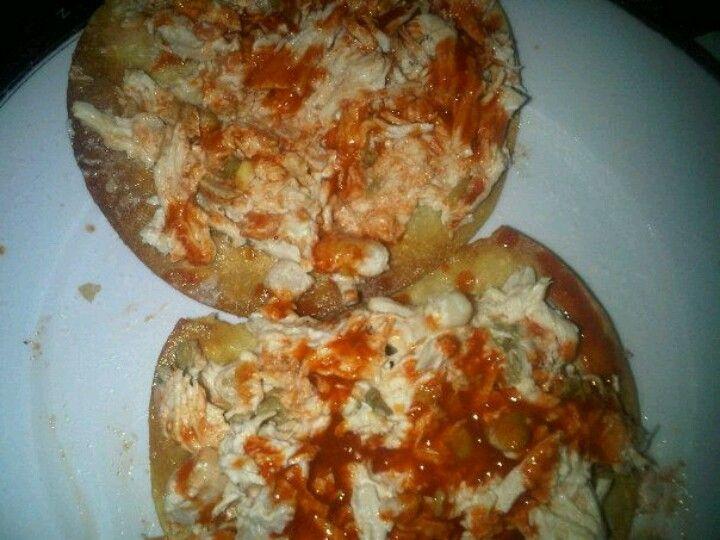 Chicken salad tostadas | YumYum...Delicioso! | Pinterest