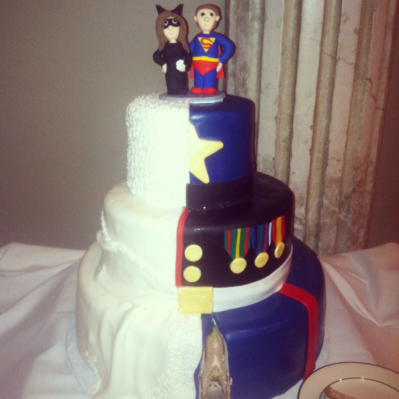 Marine Corps Wedding Cake