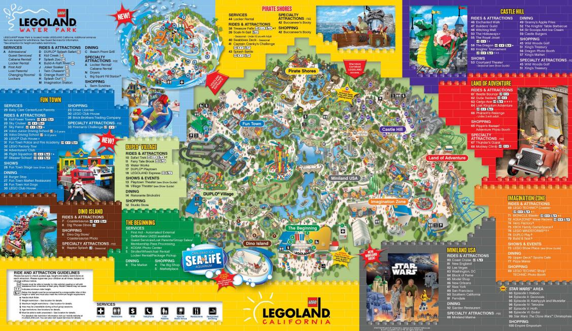 Legoland California Map Legoland 2015 Legoland