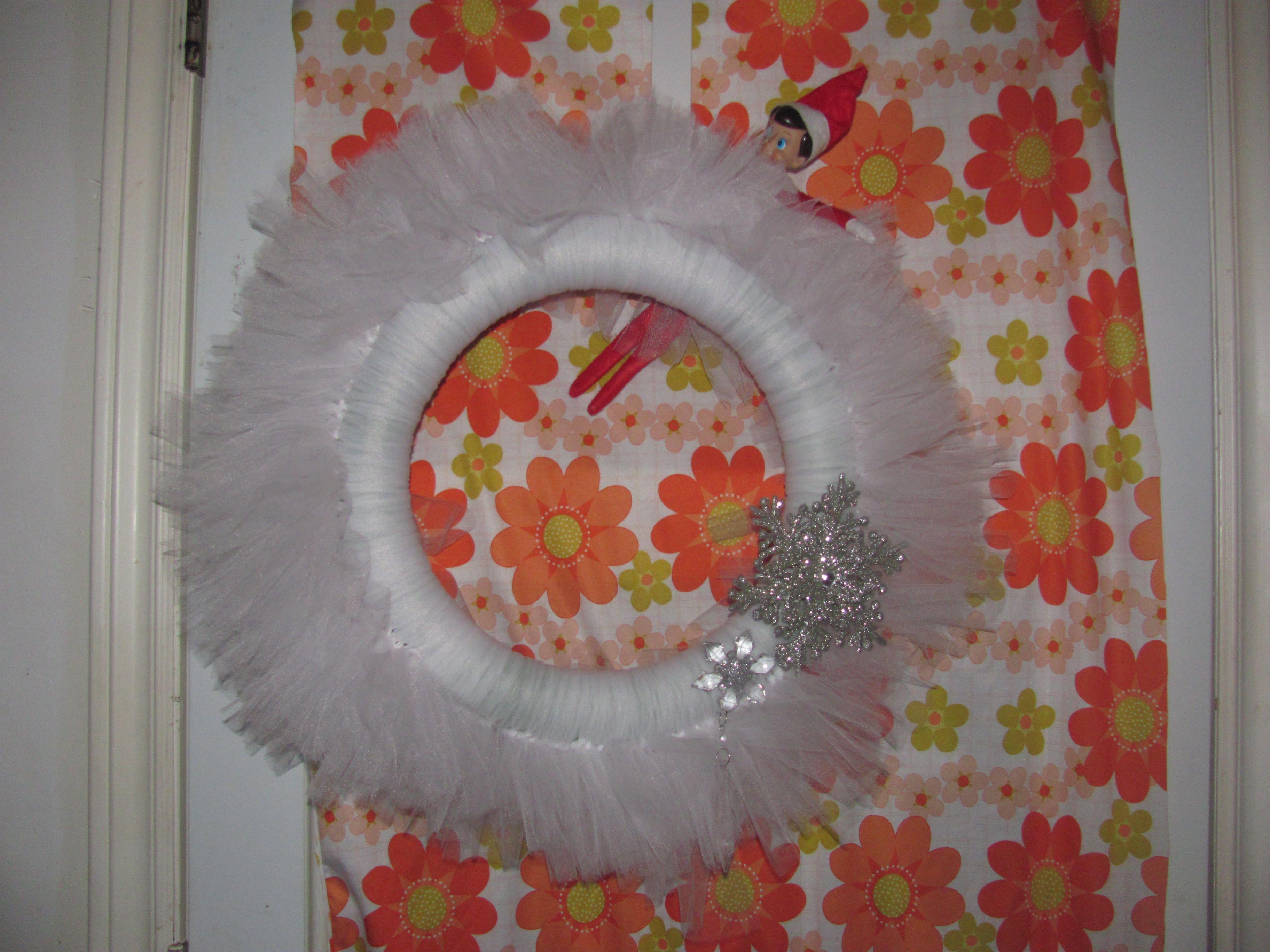 Christmas tulle wreath craft ideas pinterest