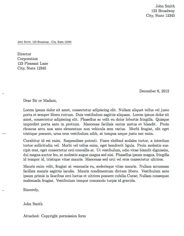 Job application letter in english example application letter sample in collegereference letters altavistaventures Choice Image