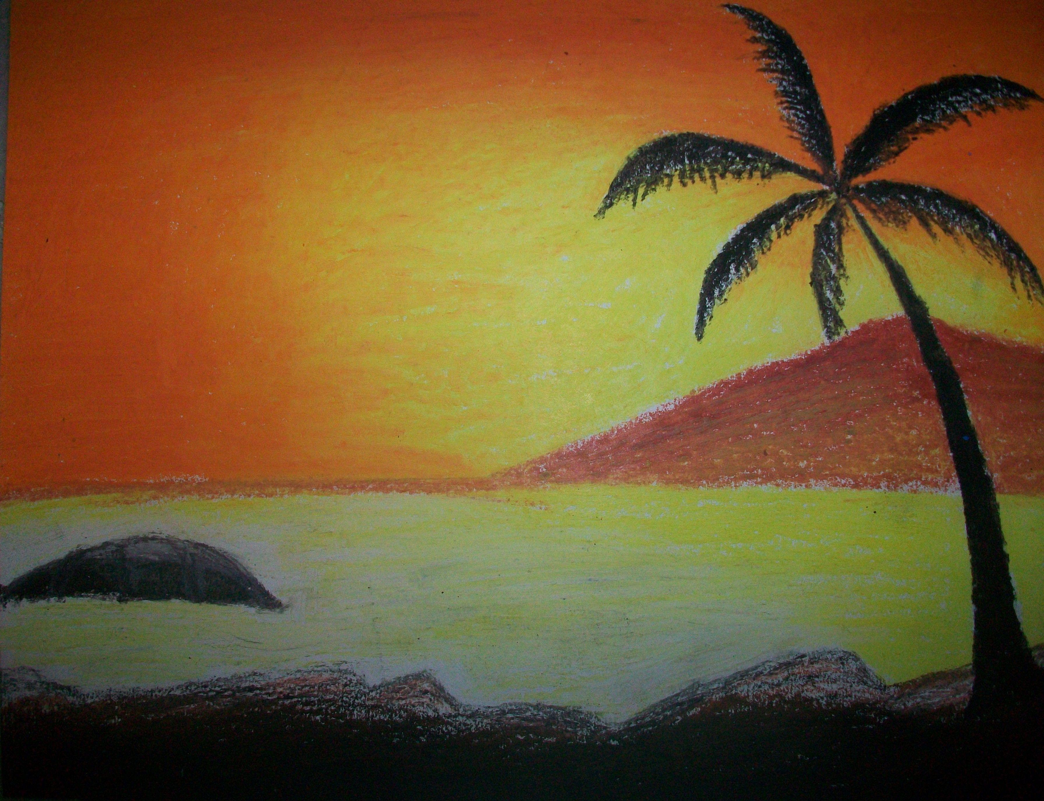 Oil Pastel Painting Paintings Pinterest